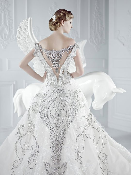 Michael cinco bridal gowns 2012 for Wedding dress in dubai