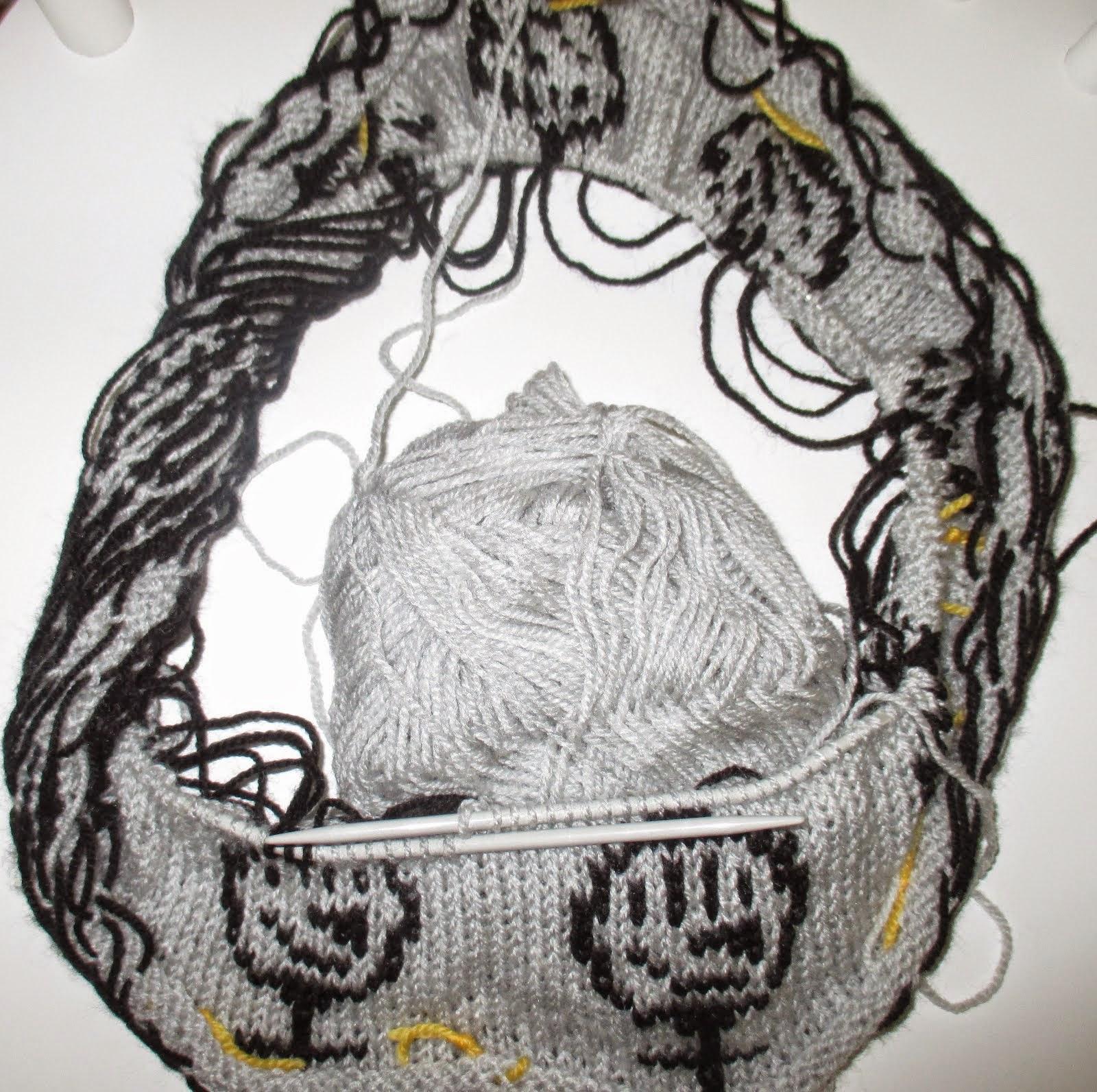 feministisk strikkegrafitti påbegyndt