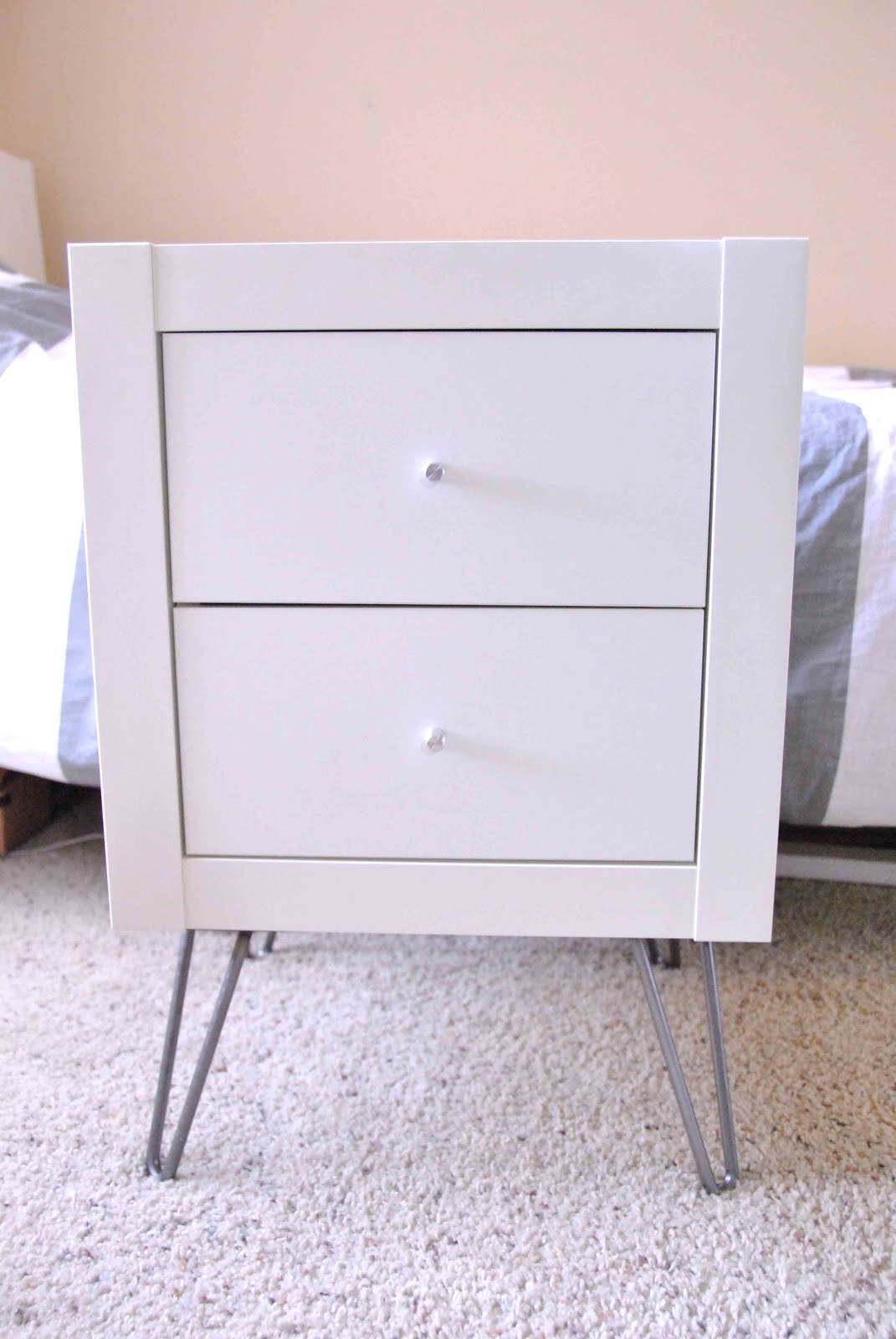 Expedit wall shelf into nightstand get home decorating for Wall shelf nightstand