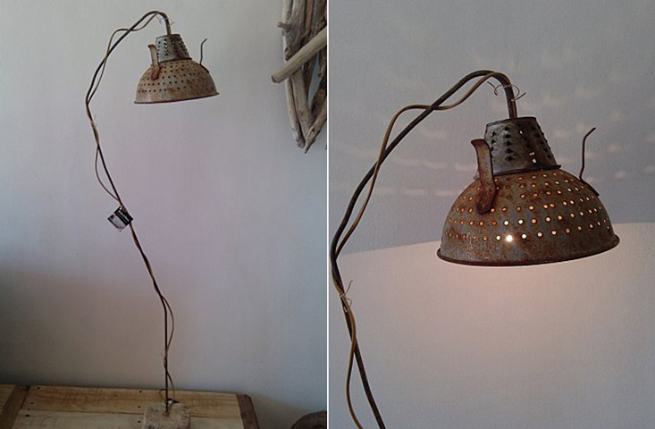 EcoNotas.com: Lámparas con Metal Reciclado, Decoración Rústica