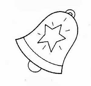 desenhos de sinos do natal para colorir formando alunos