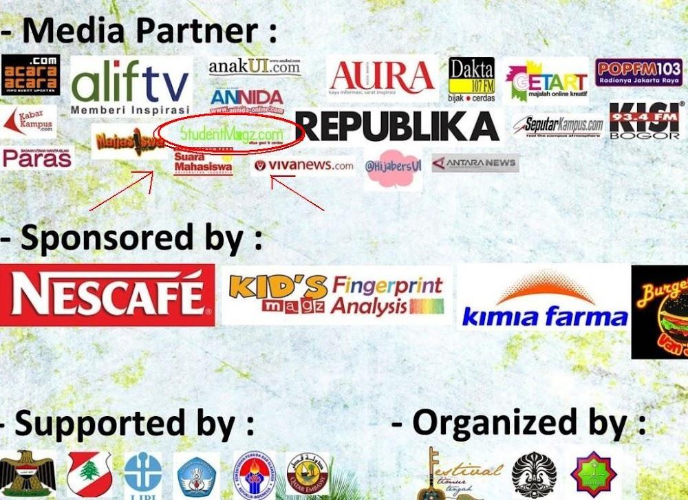 Media Partner Festival Timur Tengah (FTT) 2012 bersama Fakultas Ilmu Budaya Universitas Indonesia
