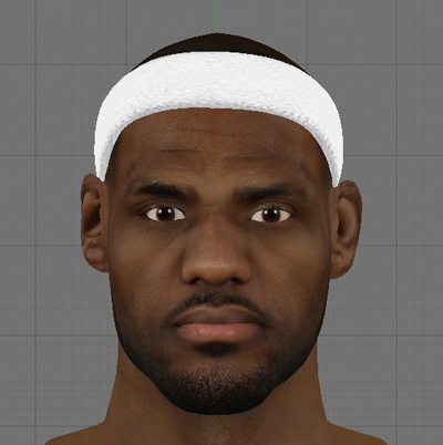 Lebron James of the Miami Heat Cyberface for NBA 2K13 PC