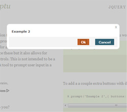 jQuery Impromptu : jQuery replacement for alert, prompy and confirm