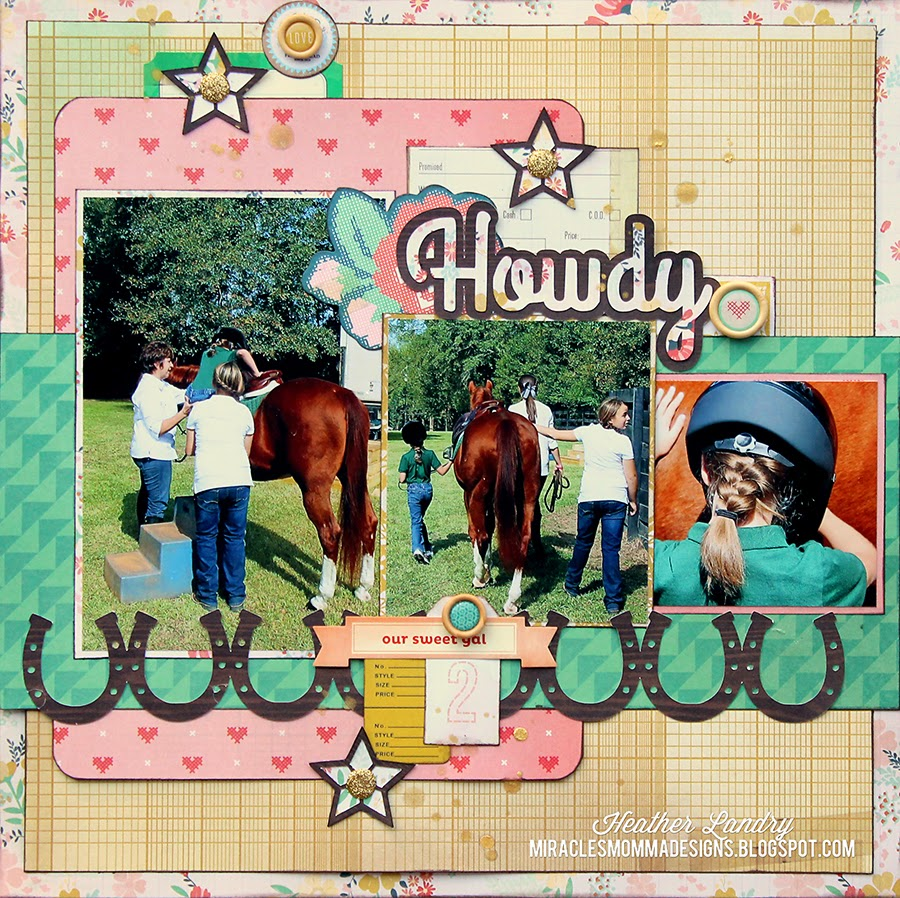 Horse Riding_Layout_Scrapbook_Crate Paper