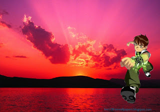 Desktop Wallpapers Ben 10 Running Teen Hero at Sunset Landscape