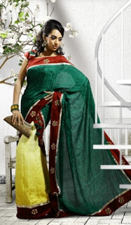 Green-Designer-Indian-Saree