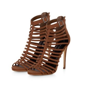 New Look brown strappy high heeled sandals