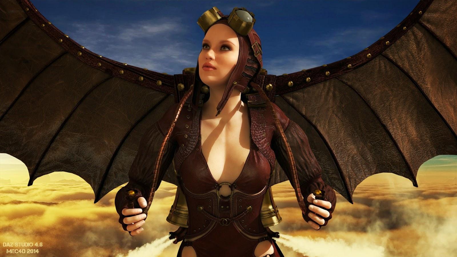 3d Models - The Aviatrix for Genesis 2 Female(s)