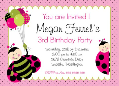 Pony Party Invitation with perfect invitations example