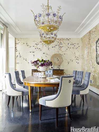 house beautiful traditional floral dining room design