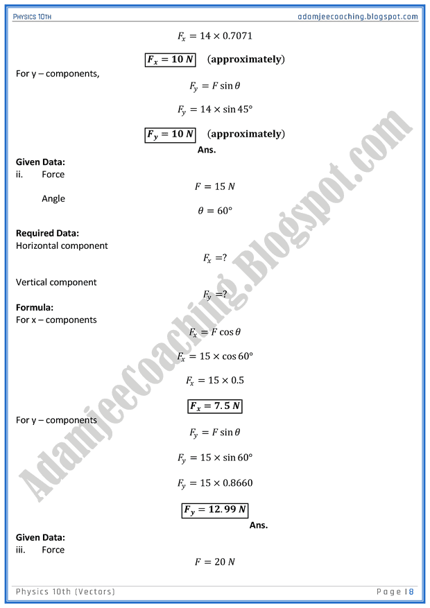 vectors-solved-numericals-physics-10th