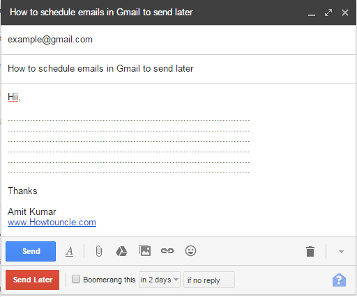 schedule emails in Gmail, Boomerang, How to schedule emails in Gmail to send later