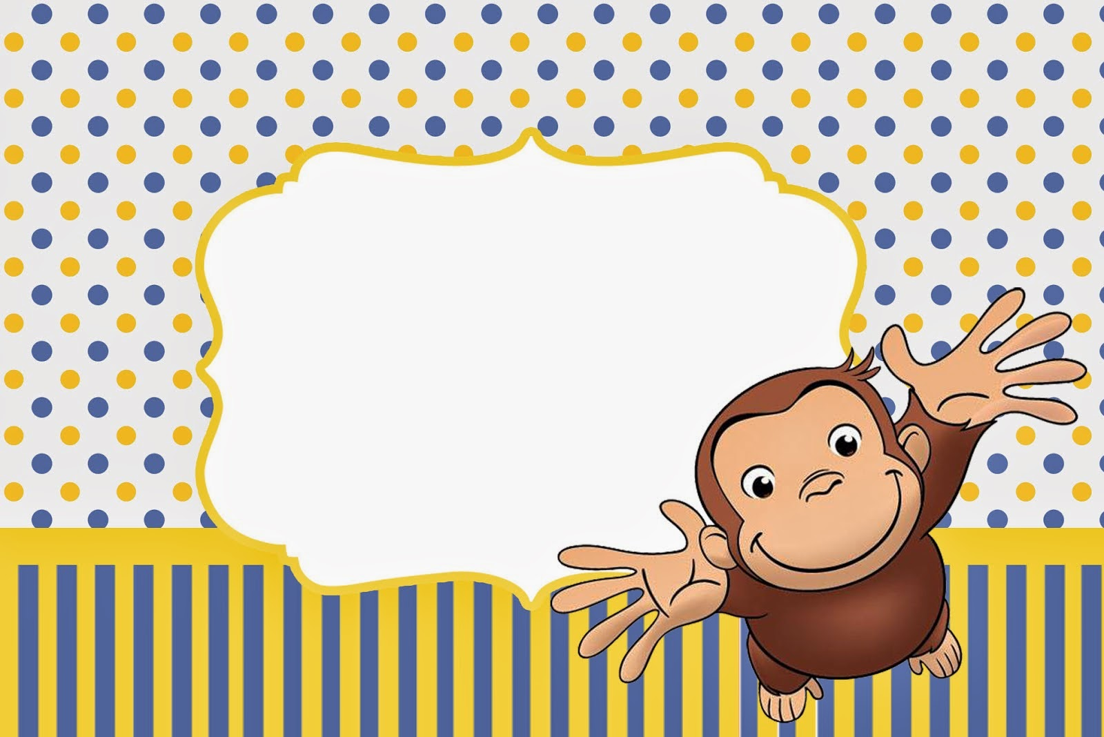 Curious George Free Printable Invitations. | Is it for PARTIES? Is it FREE? Is it CUTE? Has ...