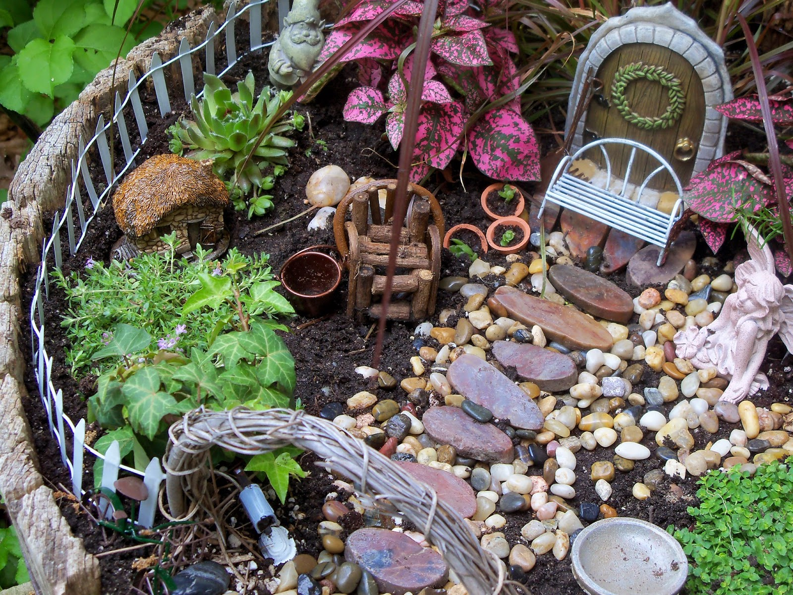 The Blue Spotted Owl Fairy Garden