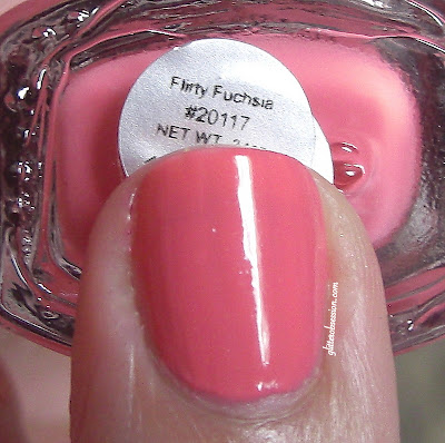 e.l.f. Flirty Fuchsia, elf flirty fuchsia swatch, elf flirty fuchsia nail swatch