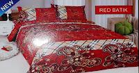 Sprei Bonita Red Batik 2014