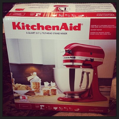 Santa (aka My Wonderful Parents) Was So Good To Me This Christmas And Gave  Me The Empire Red KitchenAid Artisan Stand Mixer That I Have Been Wanting  For A ...