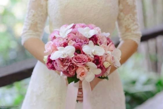 Bouquet Noiva com orquídeas hidratadas