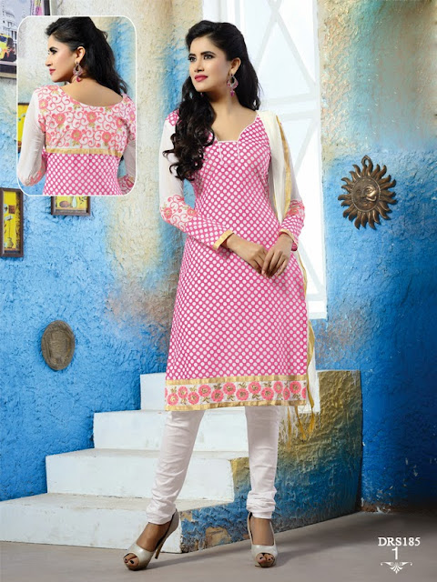 Latest Indo Cotton Churidar Dress Material