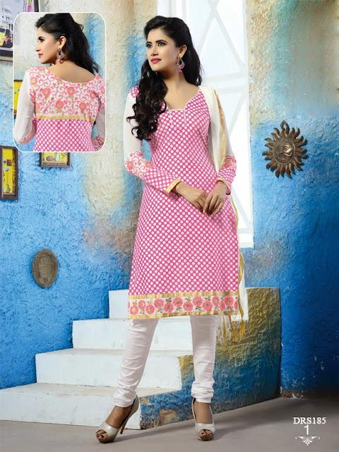 Latest Indo Cotton Churidar Dress Material
