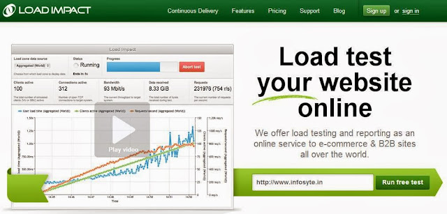 Load Impact Load test online tool