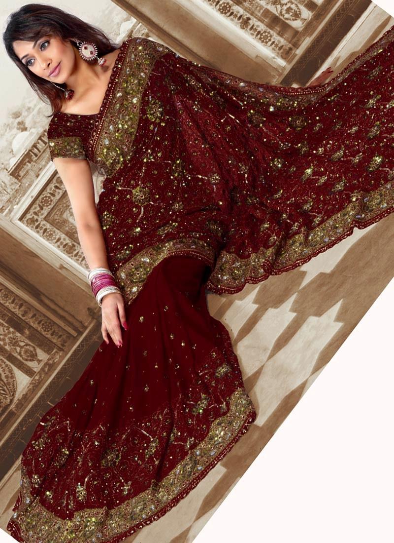 latest indian wedding sarees - photo #40