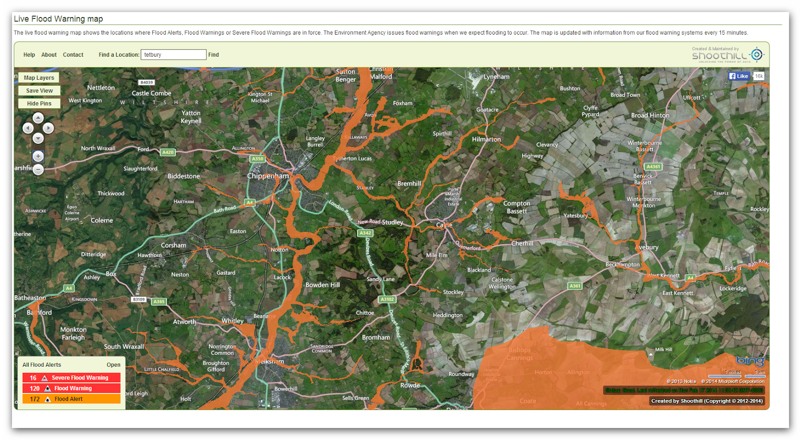 Environmental Agency Flood Map