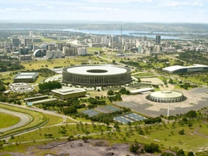 Vista aérea do Estádio Nacional de Brasília