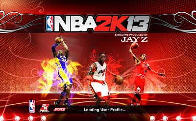 NBA 2K13 Kobe, LeBron, Rose Startup Screen Mod