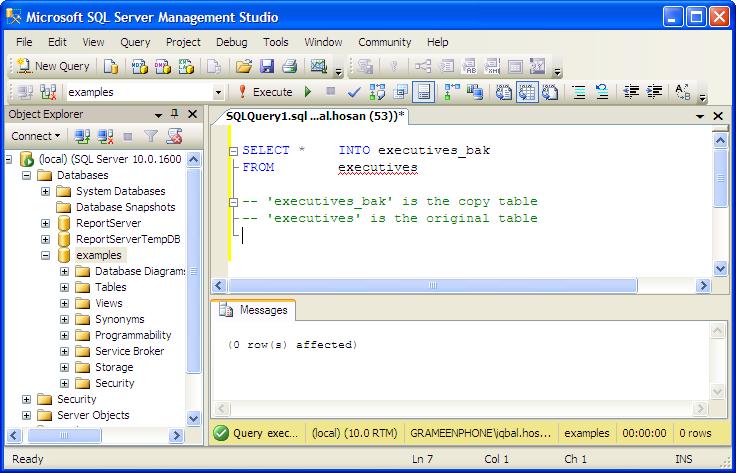 Ex&les Copy Table In Mssql Database Server Tutorial  sc 1 st  Listitdallas & Truncate Table Oracle Drop Storage - Listitdallas