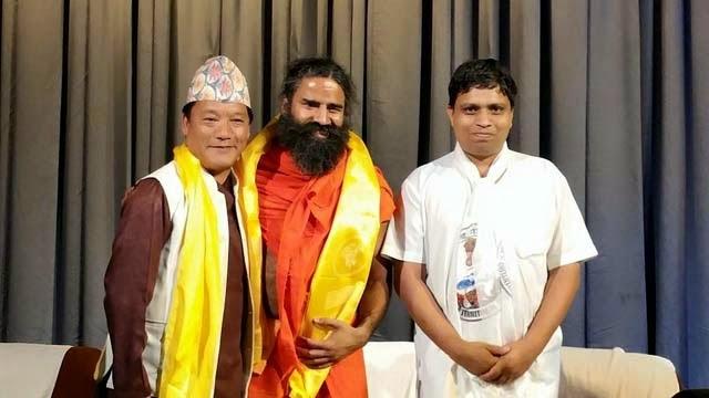 GTA chief Bimal Gurung Baba Ramdev Acharya Balkrishna