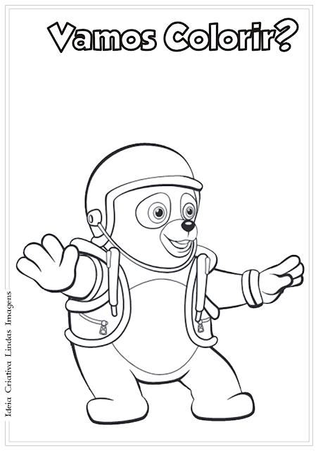 Agente Especial Urso desenho pra colorir