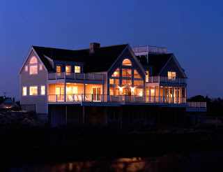 Seaside timber frame on cape cod