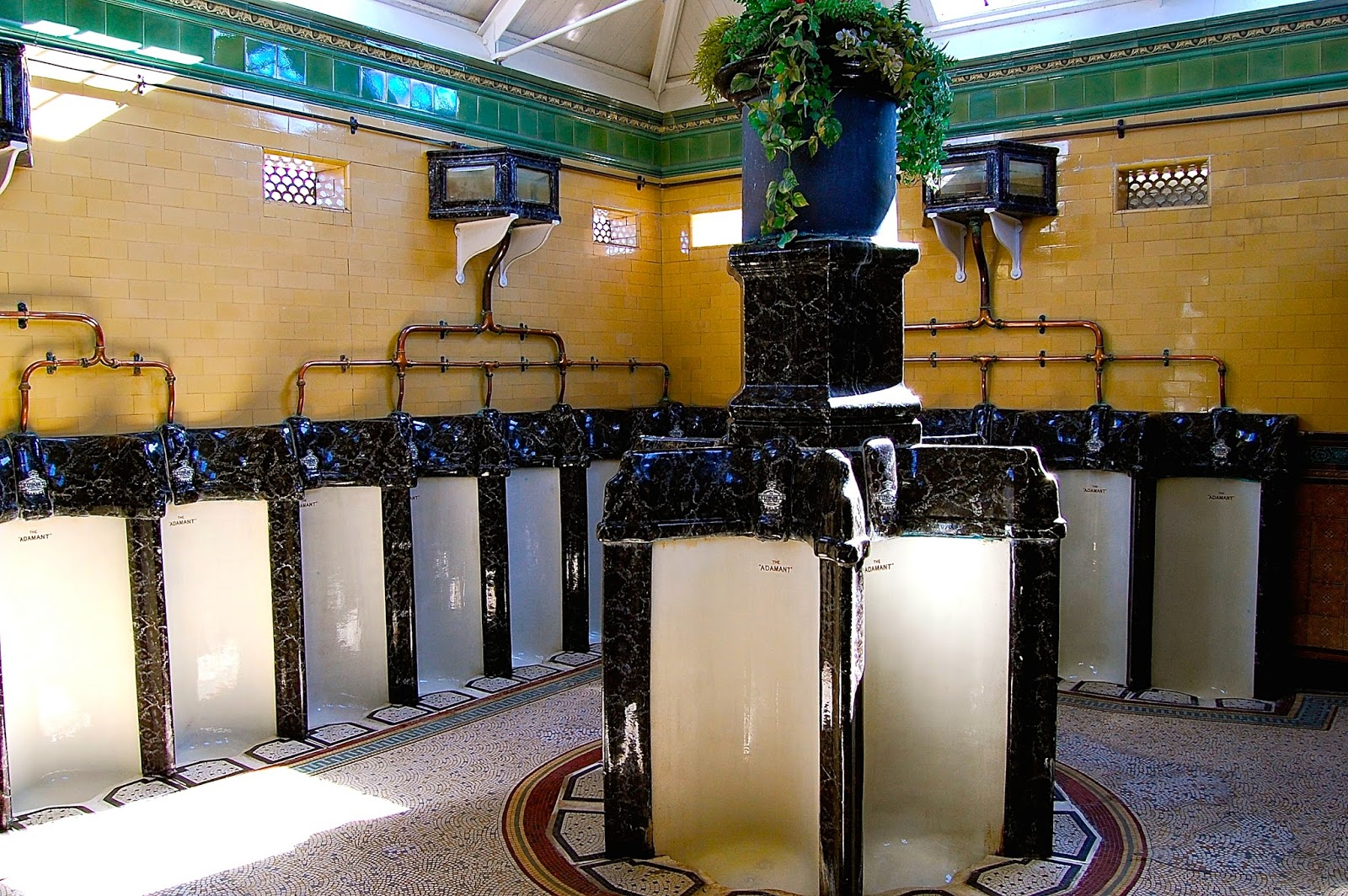 Urinals in the Victorian toilets, Rothesay, Isle of Bute