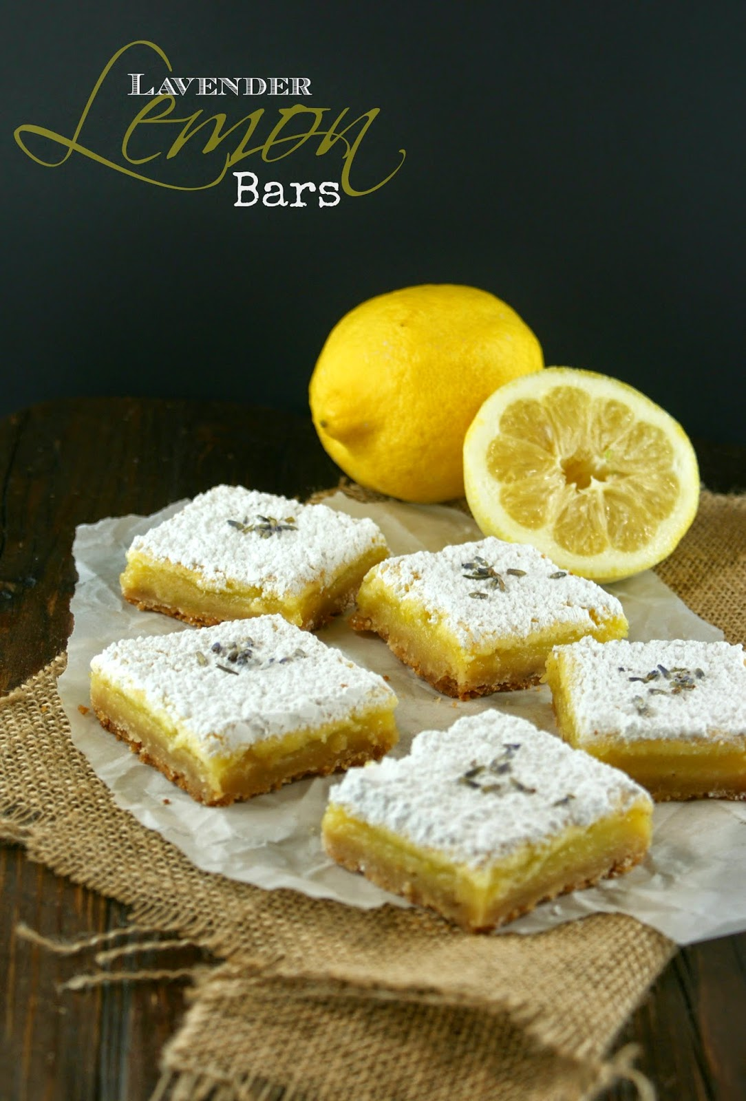 lavender lemon bars   secret recipe club