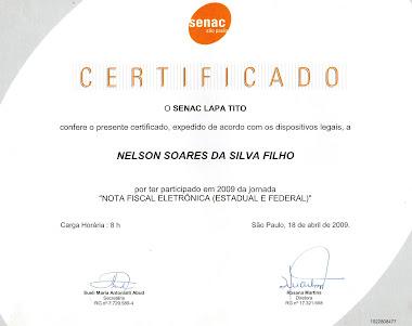 CERTIFICADO DO CURSO DE NOTA FISCAL ELETRÕNICA
