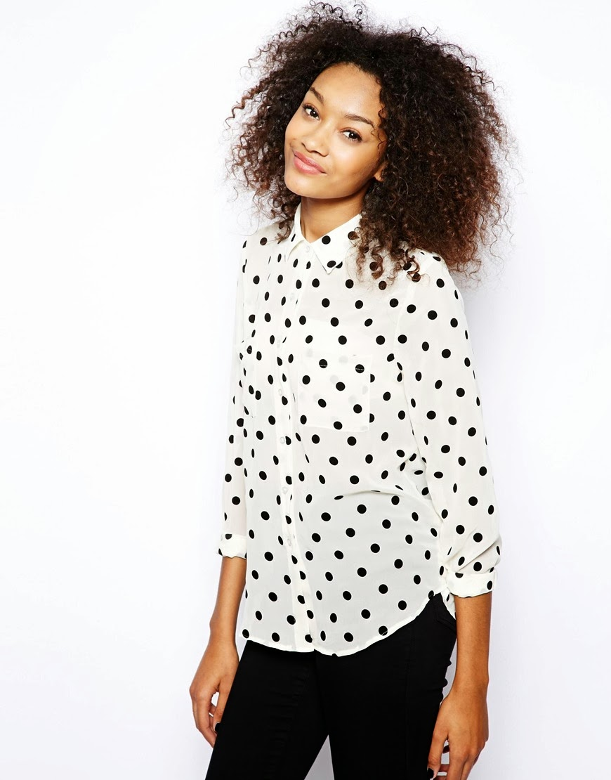 american apparel spotty blouse