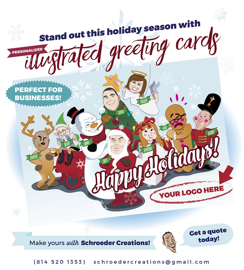 Its Christmas Card Time! | Save The Doodle! Caricatures ...