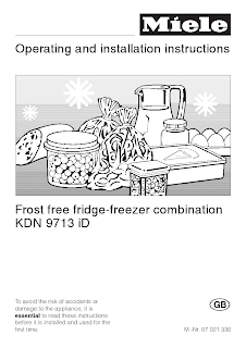 Operating and installation instructions Frost free fridge-freezer combination KDN 9713 iD