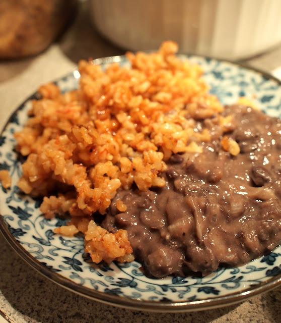 Renae's Adventures: Refried Black Beans and Spanish Rice