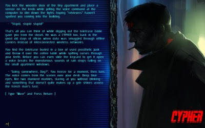 Cypher: Cyberpunk Text Adventure
