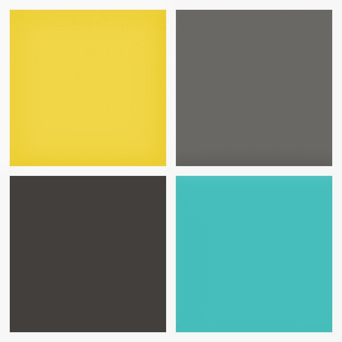 Teal yellow and grey bedding images pictures becuo - Which colour goes with yellow ...