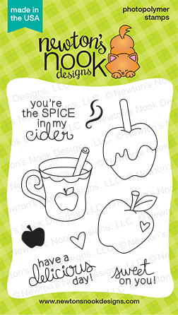 Apple Delights Stamp set by Newton's Nook Designs - Apple and Cider stamps