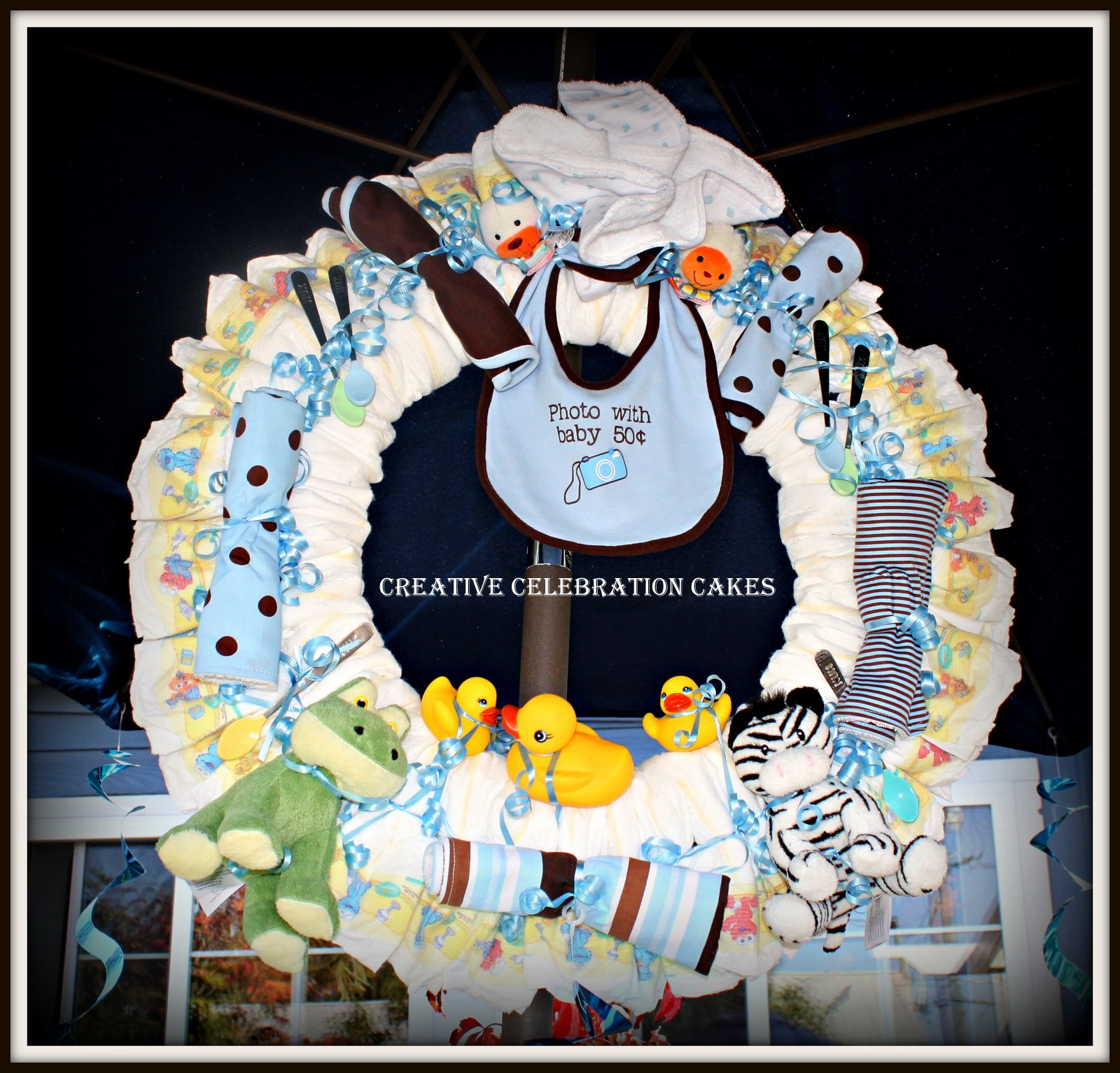 perfectly magical events tavein 39 s baby shower wreath