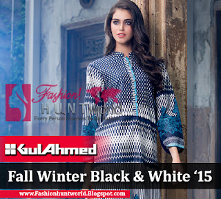 "Gul Ahmed Fall / Winter Collection 2015 ""BLACK & WHITE"""
