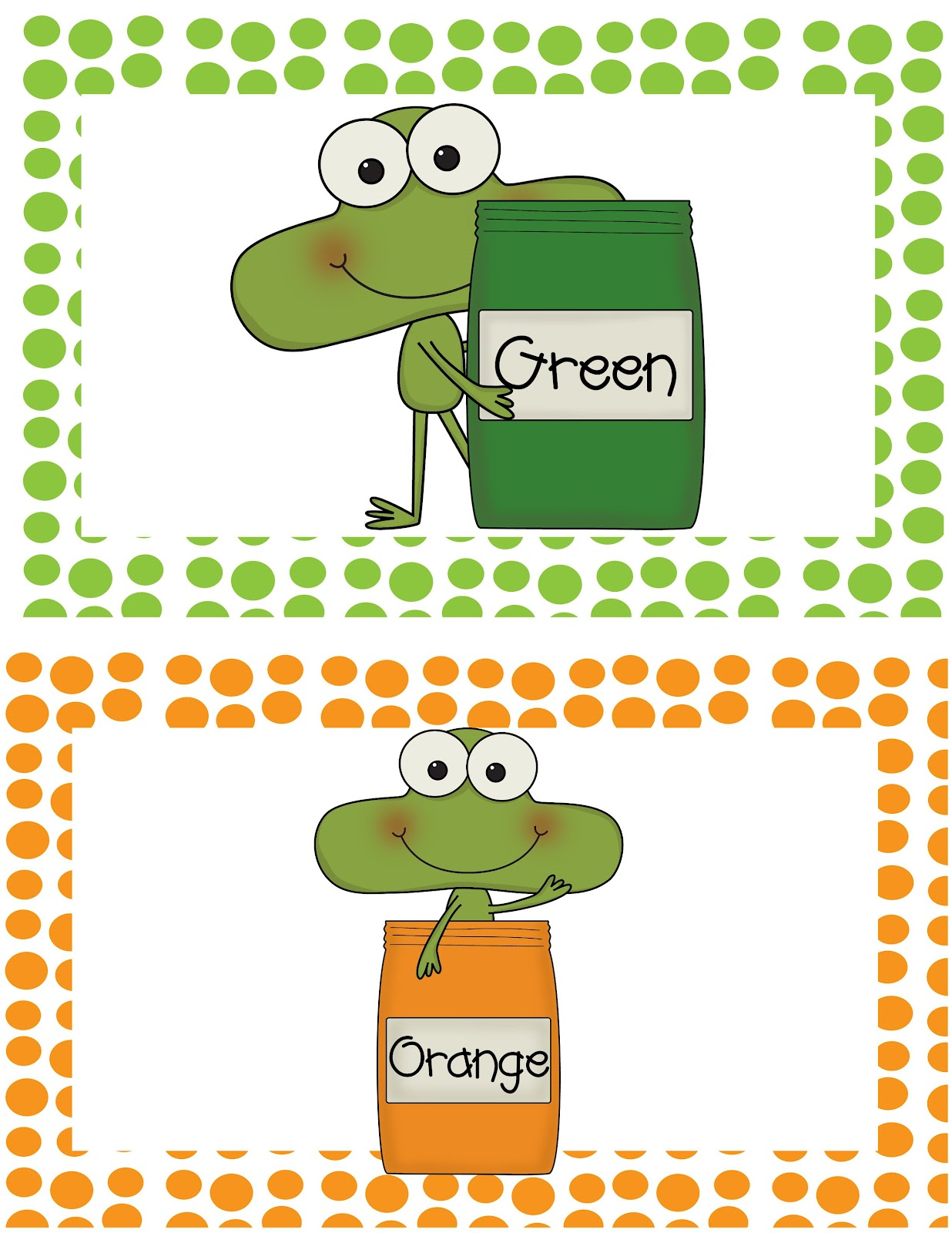 The Crazy Pre-K Classroom: New Freebie! Frog Color Word Read The Room!