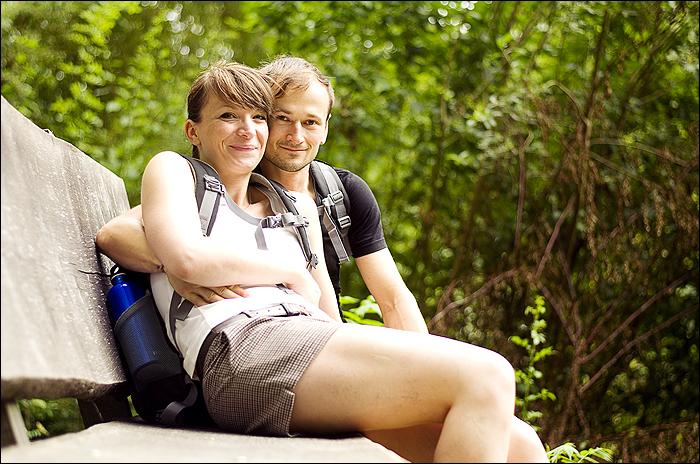 Wandern, Hiking - Eppingen Grenzsteinwanderung - Selbstauslöser