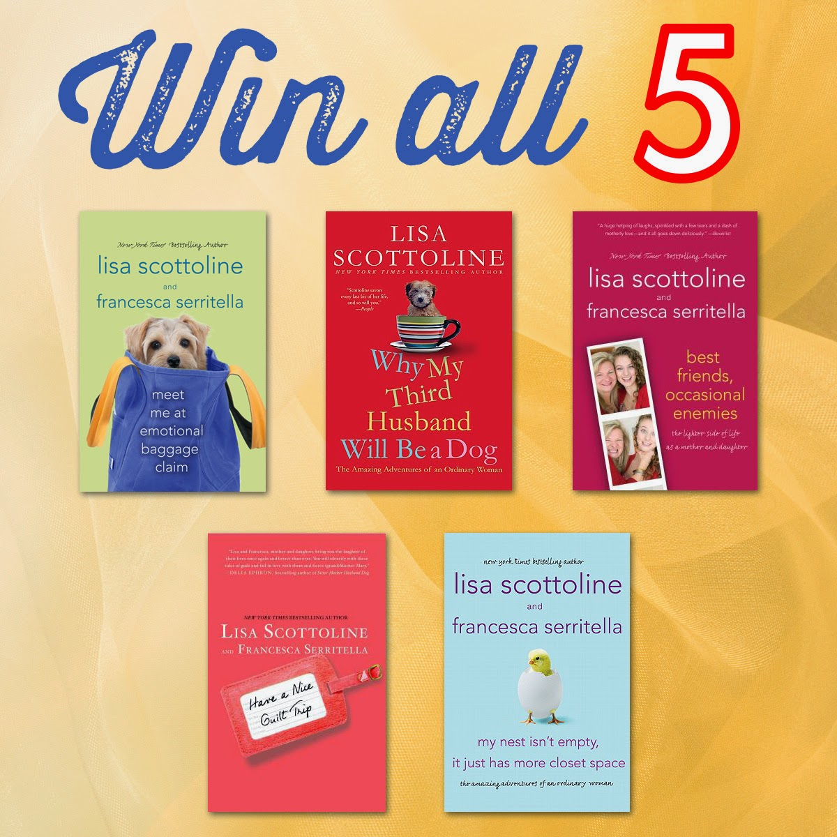 A Bookworm S World Awesome Giveaway Lisa Scottoline And