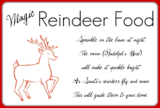 Download Reindeer Food Labels